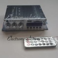 Amplificator audio, 0-40W - Statie audio 2x25W, intrare stick, card SD, Bluetooth, alimenatre la 12v
