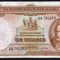 Noua Zeelanda 10 shillings serie 4A 791283 1940-67 P#158