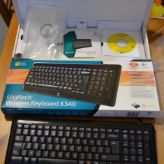Tastatura Logitech K340 - Wireless, Mini tastatura, Fara fir, USB