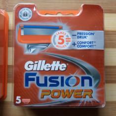 Rezerve de ras gillette fusion power set 5 buc. originale, sigilate, pt. aparat - Aparat de Ras