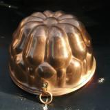 Metal/Fonta - Forma, tava de copt din arama masiva, pt. prajituri, 18, 5cm, Germania