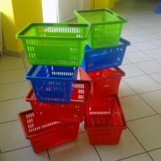 Raft/Etajera - Cosuri de plastic cu 2 manere pentru supermarket