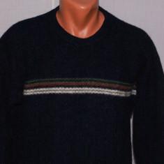 Bluza barbati COLUMBIA marimea L din lana Shetland bleumarin cu dunga pe piept - Vesta barbati Columbia, Marime: L