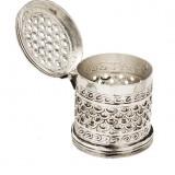 Caseta argintata rotunda Traforata Sheffield by Chinelli