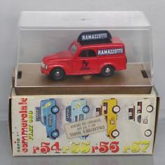 Macheta auto, 1:43 - Fiat 500 C Furgone Ramazzotti, Brumm, 1/43