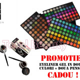 Trusa machiaj profesionala 180 culori Jelly Matte Fraulein38+ CADOU Eyeliner Gel - Trusa make up