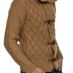 Jacheta-Pulover Tricotat Barbati Carisma Maro 7169 - Pulover barbati Carisma, Marime: S, M, L, Culoare: Din imagine