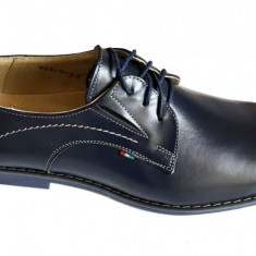 Pantofi barbati lux - eleganti din piele naturala cu siret - Model Carlino