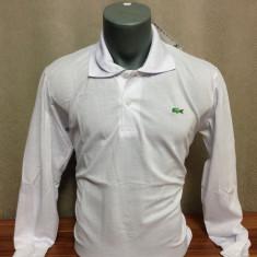 Bluza / tricou maneca lunga Lacoste februarie 2016 LICHIDARE DE STOC !!! - Tricou barbati Lacoste, Marime: XXL, Culoare: Alb, Bumbac