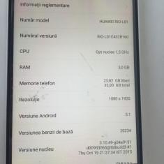 Huawei G8 RIO L01 32GB 3GB RAM Gold Neverlocked NOU 0 Minute - Telefon Huawei, Argintiu, Neblocat, Single SIM, Octa core