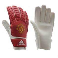 Echipament portar fotbal, Copii - Manusi Portar Adidas Manchester United - Originale - Anglia - Marimile 5, 6, 7