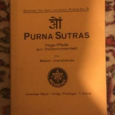 Swami Jnanananda PURNA SUTRAS in germana - Carti Hinduism