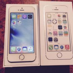 iPhone 5S Apple 16GB Gold Auriu FULL BOX NEVERLOCK CA NOU |VANZATOR GOLD+CADOU, Argintiu, Neblocat