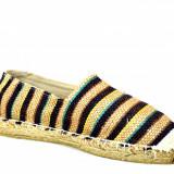 Espadrile barbatesti bej, model Vintage Stripes