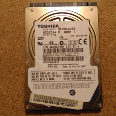 Hard-disk / HDD TOSHIBA 200GB MK2046GSX Defect -Sectoare realocate - HDD laptop Toshiba, 200-299 GB, SATA