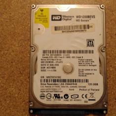 Hard-disk / HDD WESTERN DIGITAL 120GB WD1200BEVS Defect - Nu comunica - HDD laptop Western Digital, 100-199 GB, SATA