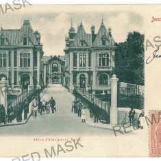 1933 - Litho, IASI, Princess Mary street - old postcard - used - 1900 - Carte Postala Moldova pana la 1904, Circulata, Printata
