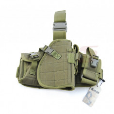 Arma Airsoft - 8Fields platforma molle cu toc pistol si buzunare Olive