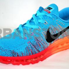 Adidasi barbati Nike, Textil - Adidasi Nike Air Max Flyknit Turcoaz & Orange + LIVRARE GRATUITA!