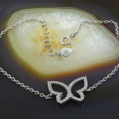 Bratara argint - Bratara din Argint 925, cu pandantiv Fluture, cod 334