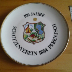 Schutzenverein farfurie decorativa