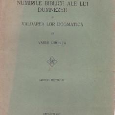 Carti Istoria bisericii - NUMIRILE BIBLICE ALE LUI DUMNEZEU SI VALOAREA LOR DOGMATICA - VASILE LOICHITA