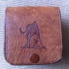 Gentuta cusuta piele naturala pentru curea tanzania made africa handmade hobby - Geanta handmade