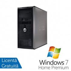 Sisteme desktop fara monitor - Dell Optiplex 755 MT, Intel Core 2 Duo E6750, 2.66Ghz, 2Gb DDR2, 80Gb HDD, Combo + Windows 7 Home Premium