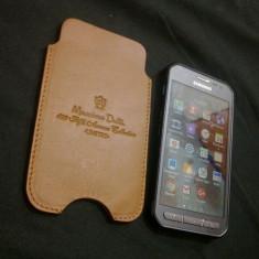 Husa toc piele maro smartphone Massimo Dutti 689 Fifth Avenue Collection LIMITED, Universala
