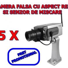 Camera falsa - Set 5 bucati Camera video falsa de Supraveghere Wireless Dummy
