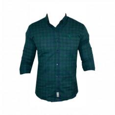 Camasa barbati - Camasa Polo Ralph Lauren, Verde, din Bumbac, Carouri, Groasa, Toate Mas C321