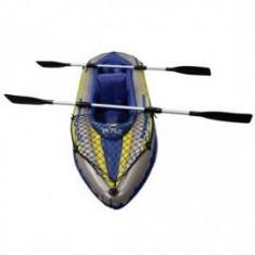 Barca pneumatice - Barca gonflabila Canoe Challenger 2 cu pompa si vasle Intex 68306