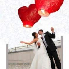 Lampioane zburatoare in forma de inima