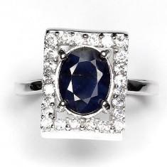 Set bijuterii argint - SET INEL +PANDANT ARGINT 925 CU NATURAL SAFIR BLUE