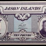 Bancnota Straine, America Centrala si de Sud, An: 1979 - JASON ISLANDS (Falkland Islands) 10 POUNDS 1979 UNC **