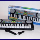Mini orga de jucarie cu microfon functional pentru copii