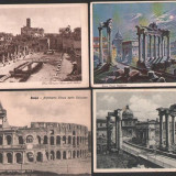 Lot 4 ilustrate vechi, Italia, Roma, Fotografie, Europa