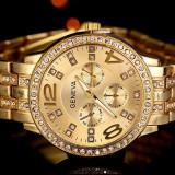 CEAS DAMA GENEVA CALIBER GOLD&DIAMONDS-COLECTIE 2016-SUPERB-CRISTALE-REDUCERE !!