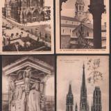 Lot 4 c.p. ilustrate vechi, Franta, Fotografie, Europa