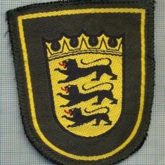 Uniforma militara - 89 - EMBLEMA MANECA - MILITARA?-POLITIE? -GERMANIA -BADEN...-starea care se vede