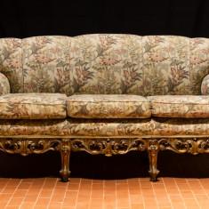 Mobilier, Sufragerii si mobilier salon, Rococo, 1900 - 1949 - VECHI SET CANAPEA SI DOUA FOTOLII