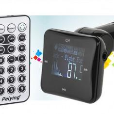 Modulator FM auto, Modulator FM Stereo - Modulator FM RDS auto display 1.4 INCH USB max 16GB Peiying 3.5mm Jack