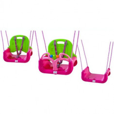 Leagan/Balansoar - Leagan Transformabil 3 in 1 cu Centuri de Siguranta pink-green