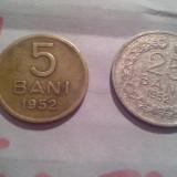 5 BANI 1952 /1 +CADOU 25 BANI 1952 - Moneda Romania, Alama