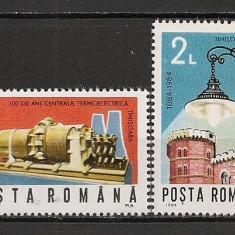 Romania.1984 100 ani iluminatul electric stradal Timisoara HR.282 - Timbre Romania, Nestampilat