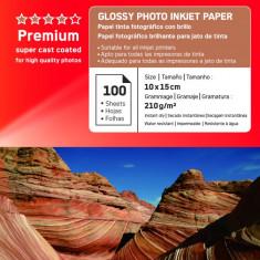 HARTIE FOTO AGFA GLOSSY INKJET 10X15 210G/100COLI - Hartie foto imprimanta