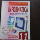 MANUAL INFORMATICA CLS. A XI-A - DANIELA OPRESCU - Manual Clasa a XI-a, Clasa 11