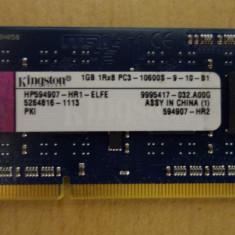 Ram Laptop KingstonDDR3 1Gb PC3 10600S 1333MHz HP594907-HR1-ELFE - Memorie RAM laptop