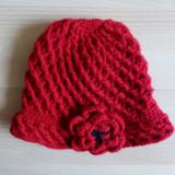 Caciula tricotata cu floare; marime universala; impecabila, ca noua - Caciula Dama