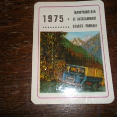 CALENDAR 1975 INTREPRINDEREA DE AUTOCAMIOANE BRASOV ROMANIA - Calendar colectie